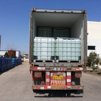 Glyoxal as crosslinking agent transportation