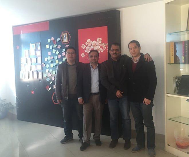 Indian customer visited zhonglan industry