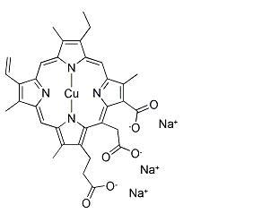 Sodium Copper Chlorophyllin chemical structure