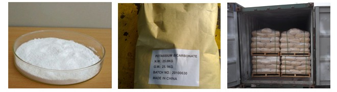 Potassium bicarbonate appearance and package