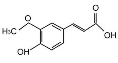 Ferulic acid Chemical Structure: